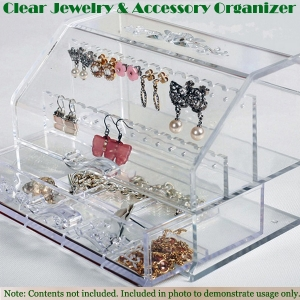 Transparent Jewelry and Accessory Organizer 투명 악세사리 정리 보석함